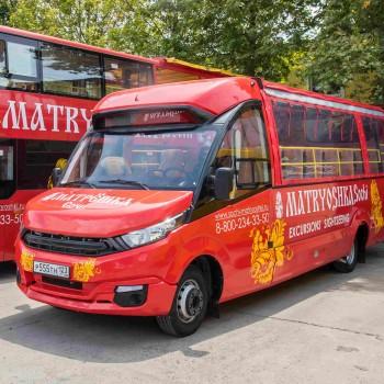 Аренда«Матрешка»кабриолет для проведения экскурсии 4 часа