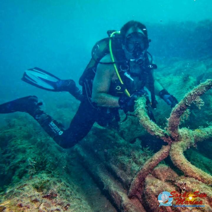 Погружение к затонувшему кораблю «Перванш»