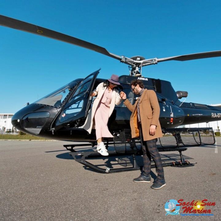 Вертолетный трансфер на Eurocopter AS350   вылет из Сочи