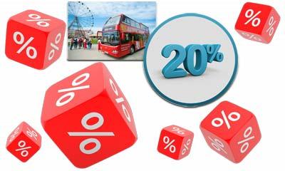 Скидка 20% на автобусные экскурсии